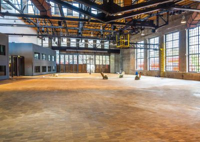 Classic Remise Düsseldorf Eventhalle - Parkett geschliffen von parkett-schleifen.nrw